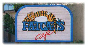 Fat Cats Cafe Sign