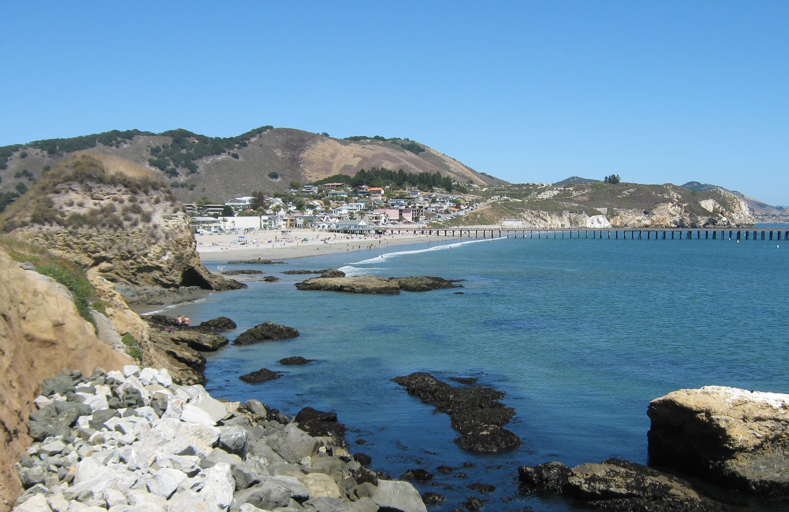 Avila Beach from a distance