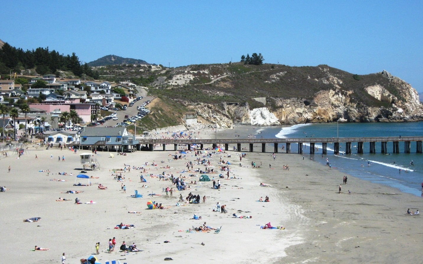 Crowd of people at Avila Beach