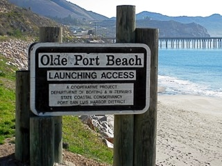 Olde Port Beach Sign